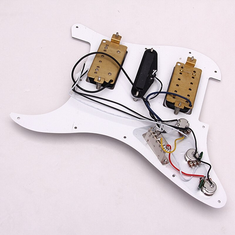 Electric Guitar Pickguard Loaded Pickguard Pre-Wired Pickguard Pickups for Fender Stratocaster Electric Guitar 3Ply enlarge