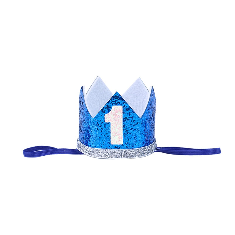 Купить с кэшбэком First Birthday Baby Boy Party 1st Birthday Party Decoration Banner Balloon crown 1 One Year Old Party Baby Shower Decor Supplies