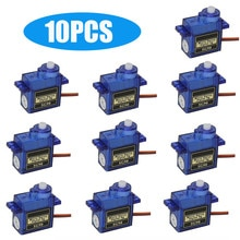 1/4/9/10pcs 9g Sg90 Miniature Servo Motor For Rc Robot Helicopter Airplane Aircraf Car Boat Brinqued