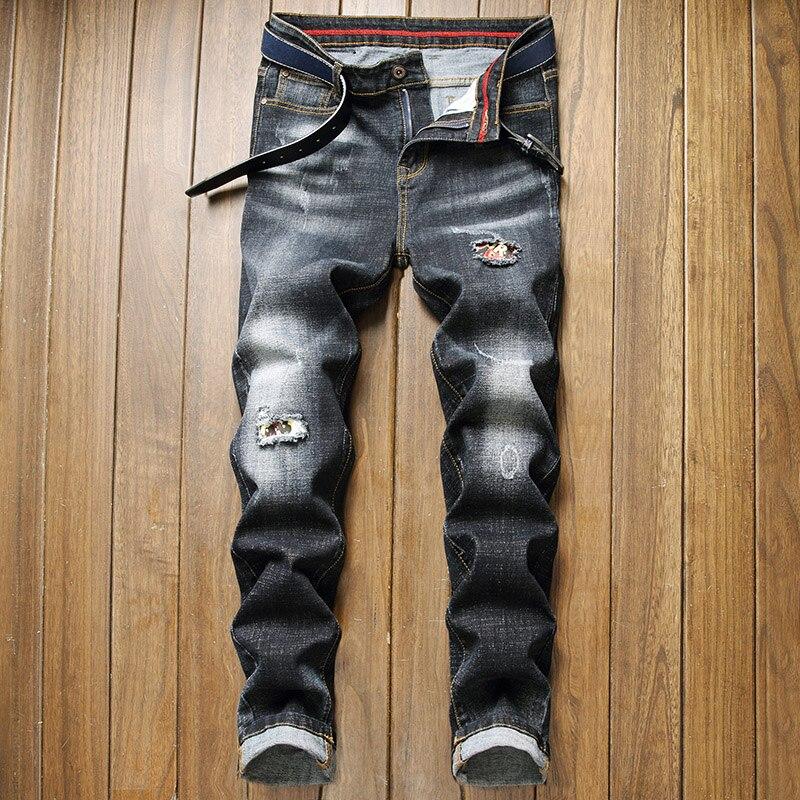 2021 mew мужские рваные джинсы мужские Стрейчевые джинсы мужские большие джинсы мужские свободные прямые джинсы уличный стиль повседневные мо...