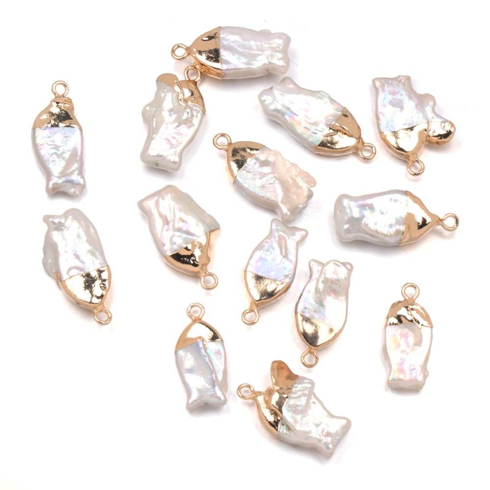 3PC Natural Freshwater Pearl Pendants Irregular Shape Charms Pendant For Jewelry Making DIY Necklace Earring Accessories Gift  - buy with discount