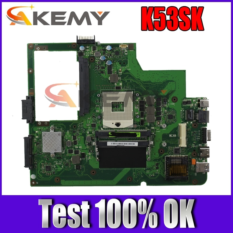 K53SK MAIN_BD._ 0 متر/تيار مستمر/AS USB3.0 90R-N7RMB1100Y لوحة أم REV2.1 لأجهزة الكمبيوتر المحمول ASUS K53S K53SK اللوحة الأم 100% اختبارها شحن مجاني