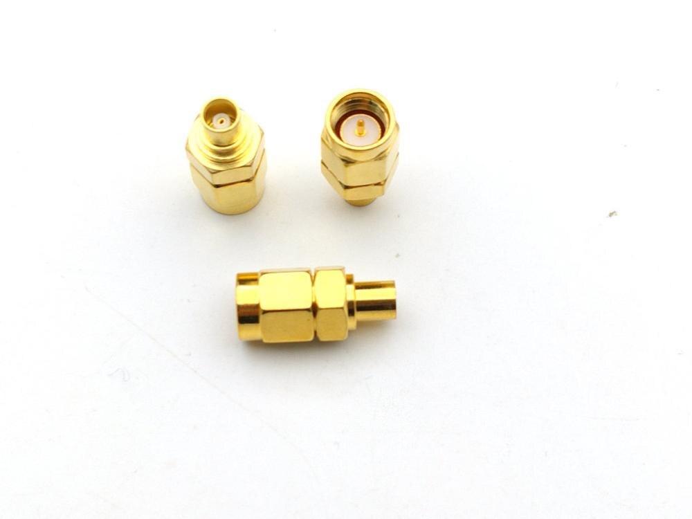 100 قطعة الذهب SMA ذكر التوصيل إلى MCX أنثى جاك RF محول محوري