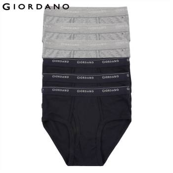 Giordano Men Underwear Mens Briefs 6pcs Solid Underwear Men Ropa Interior Hombre Briefs Men Cotton Cueca Masculina Calzoncillos