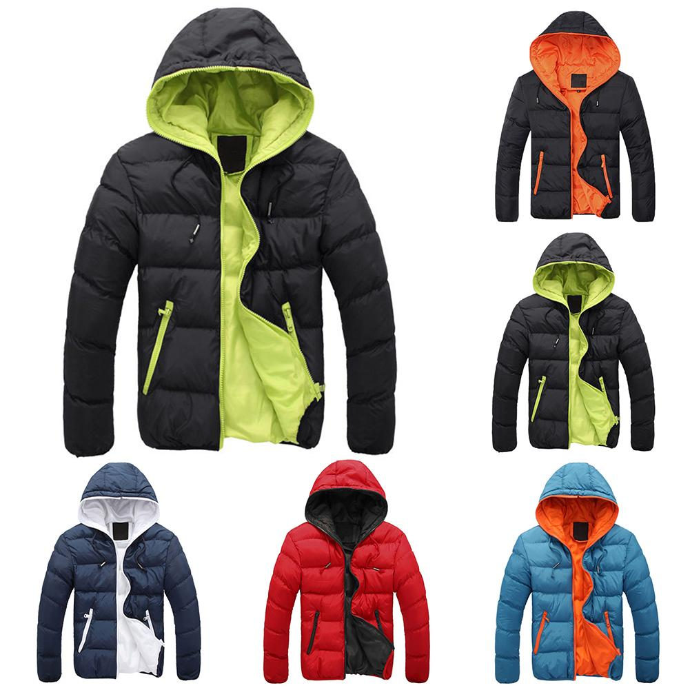 Winter Jacket Hooded Coat For Men Thick Warm Windproof Parka