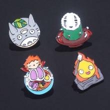 Без лица человек Ponyo Тоторо булавки броши Хаяо Миядзаки Унесенные призраками Ponyo на скале мультфильм значок брошь бижутерия