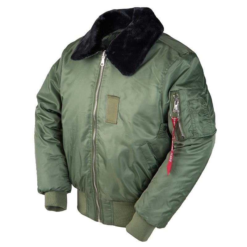 2020AW winter vintage B-15 bomber flight us air force pilot jacket streetwear coats military hip hop
