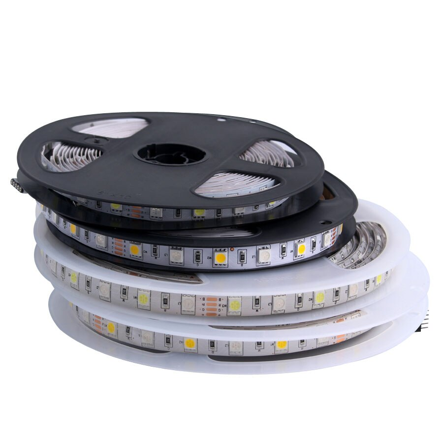 tira de luz de led rgb 5v 12v 24 v smd 5050 5m a prova d agua flexivel 5 12 fita