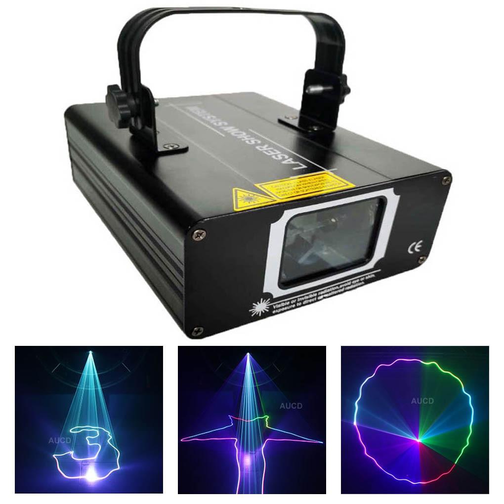 جهاز عرض ديسكو led ، 500mW ، RGB ، DMX ، ضوء ، ماسح ضوئي للحفلات المنزلية