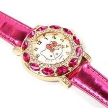 Nette Leder Quarzuhr Kinder Kinder Mädchen Casual Mode Armband Armbanduhr Uhr Relogio Feminino
