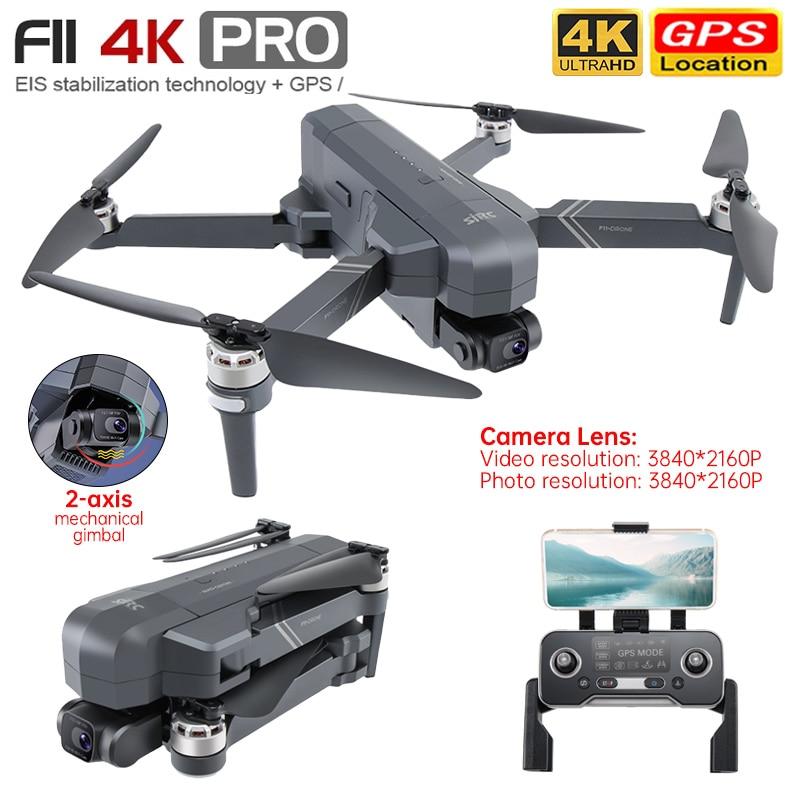 SJRC F11 4k برو Drone 2-محور Gimbal المهنية GPS Wifi FPV Dron فرش يدعم SD بطاقة طوي هليكوبتر VS SG906 Pro2