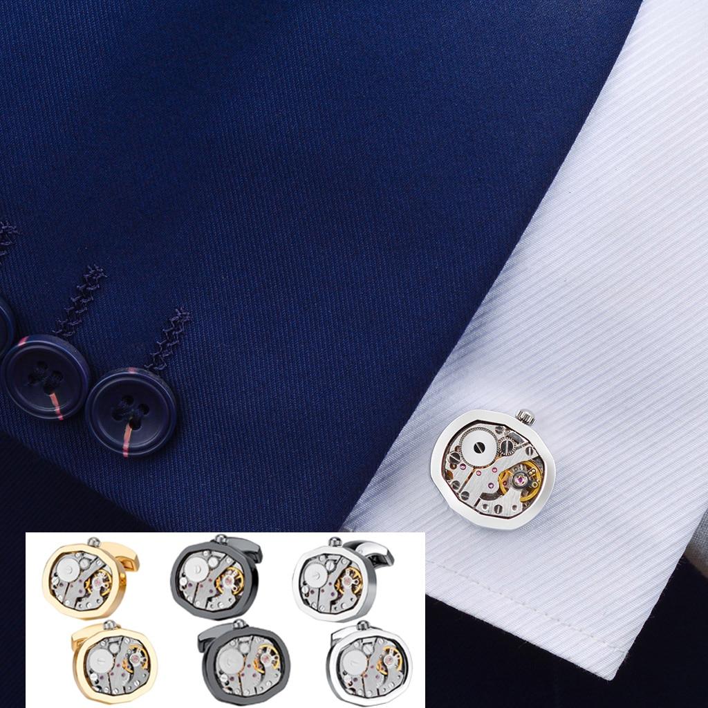 SAVOYSHI-أزرار أكمام للساعة الميكانيكية ، للرجال ، قميص ، أزرار أكمام ، آلية ساعة ، أزرار أكمام ، مجوهرات ذات علامة تجارية