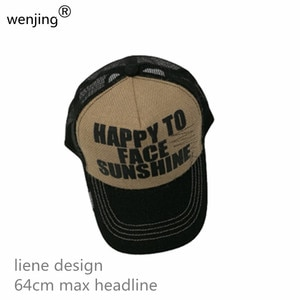 WJc01   2020  64cm  XL size summer   linen   SPECIAL BIG SIZE  Breathable  Mesh  Baseball caps Snapback  Trucker CAP