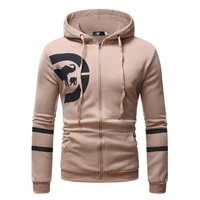 mens zip up hoodies casual cotton sweatshirts boy chest printed sportive outwear male jacket new aw21
