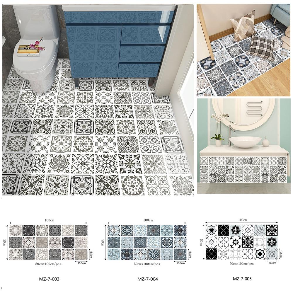 1 м ПВХ наклейки на стену клей матовый пол Плитки мебель обновления наклейки Водонепроницаемый обои для кухни Ванная комната
