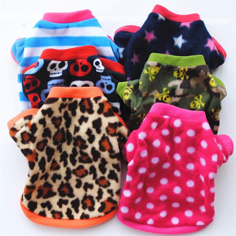 Рождественская Одежда для собак, зимнее пальто, милый Леопардовый свитер для домашнего питомца, рубашка, костюм маленькой таксы, кошки, щенка, одежда для собак