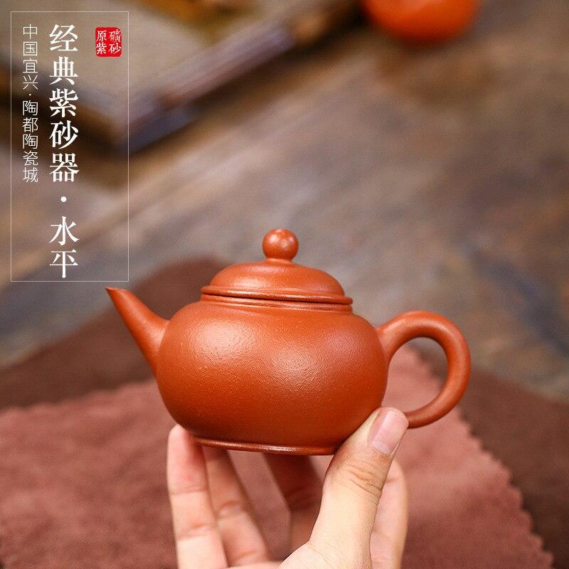أفضل مبيعا ييشينغ الأرجواني الطين إبريق الشاي ماستر اليدوية Mengchen إبريق الشاي الأفقي الزركونيوم الطين سعة صغيرة 150cc