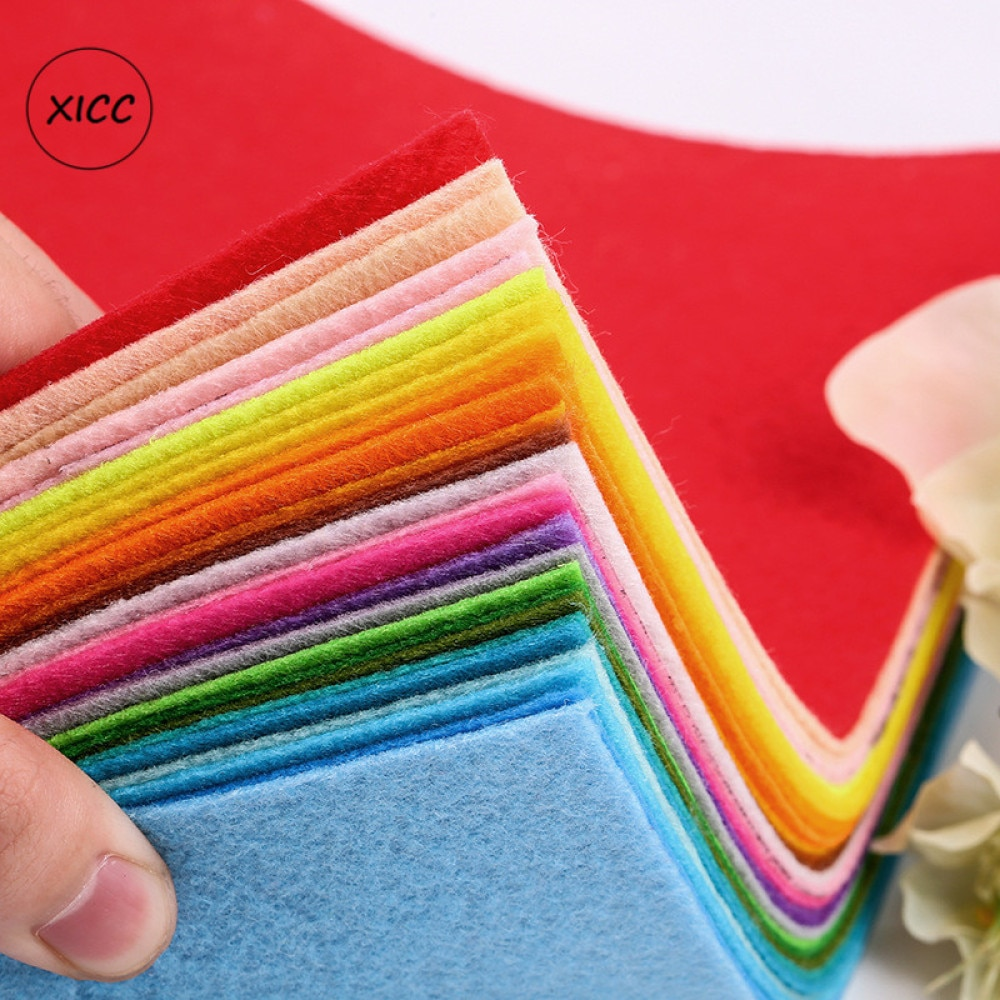 XICC Stock 1mm Handmade Non Woven Felt Fabric Flowers DIY Craft Colorful Toy Dolls Sewing Material N