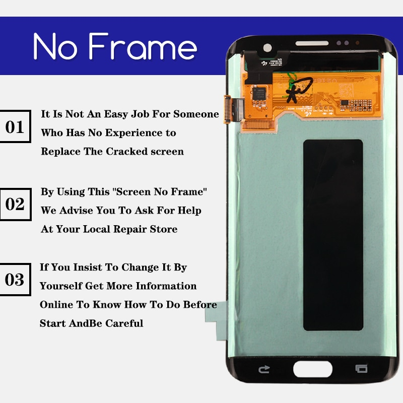 Original 5.5'' Burn-shadow LCD For Samsung Galaxy S7 Edge Display With Frame For Samsung G935 G935F Screen Digitizer Assembly enlarge