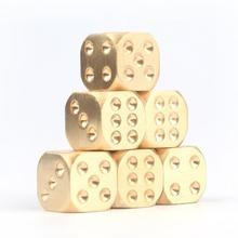 Spielen Spiel Werkzeuge 1 Goldene Würfel Kupfer Polyeder Metall Solide Heavy Duty Pinzette