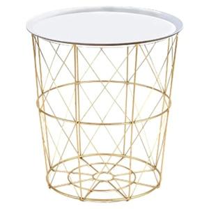 34,5x30,5x23 см металлический Железный журнальный столик корзина для грязного хранения чай фрукты закуски сервировочная доска лоток золотой бел...