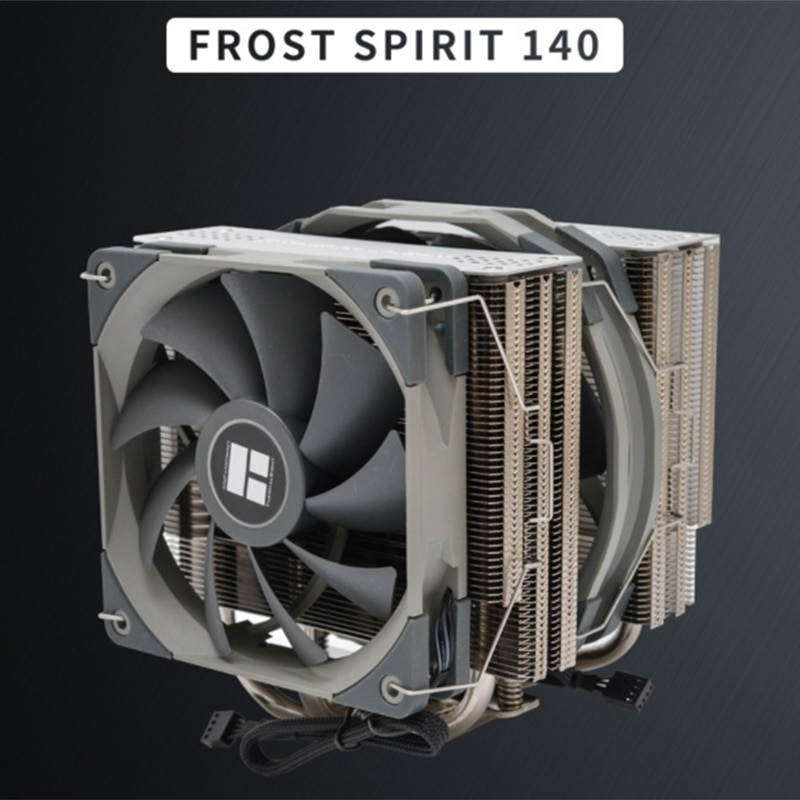 FS140 Dual Tower CPU Cooler Radiator with 140mm PWM Fan 4PIN for 115X 2011 2066 AM4 Computer CPU Cooling enlarge