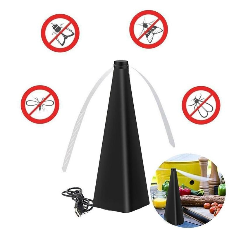 Baling-baling pemusnah terbang untuk meja, pelindung makanan lalat - Peralatan berkebun - Foto 2