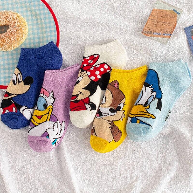 Disney Mickey Mouse короткие женские носки Kawaii аниме Дональд пот 2020 летние хлопковые женские носки башмачки для девочек короткие женские носки|Носки| | АлиЭкспресс