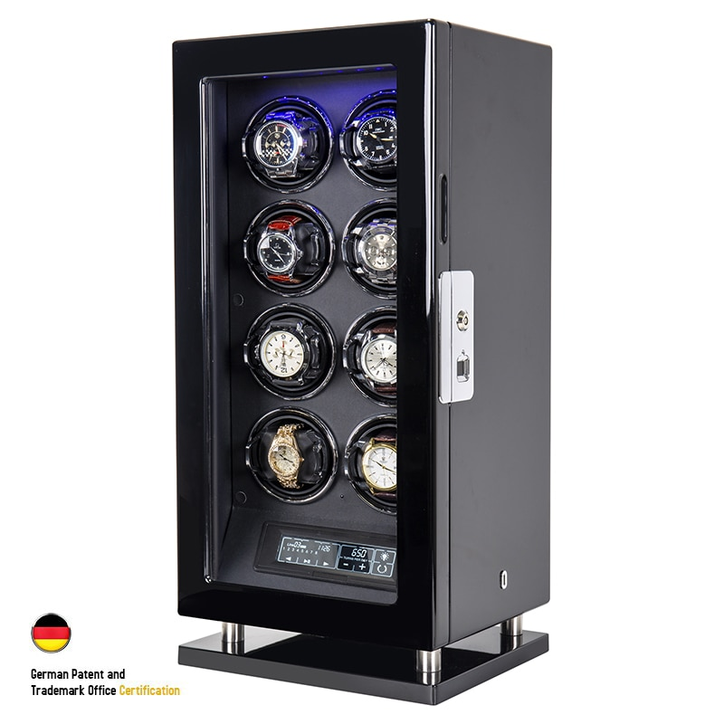 Fingerprint Unlock Automatic Watch Winder Quiet Smart Remote Control Touch Screen 2 3 4 6 8 12 Slots Watch Box enlarge