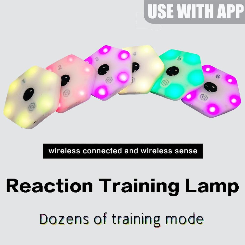 【Queling】 رد فعل التدريب ضوء مصباح سرعة خفة الحركة معدات الاستجابة كرة السلة الملاكمة fitlight blazepod كرة اليد