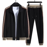 new mens sets fashion long sleeve casual mens tracksuit men sports suit printing plus size sweatsuit winter street clothing