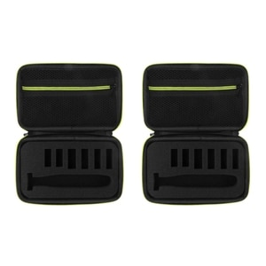 2Pcs Electric Razor Box EVA Hard Case Trimmer Shaver Pouch Organizer Carrying Bag for  One Blade