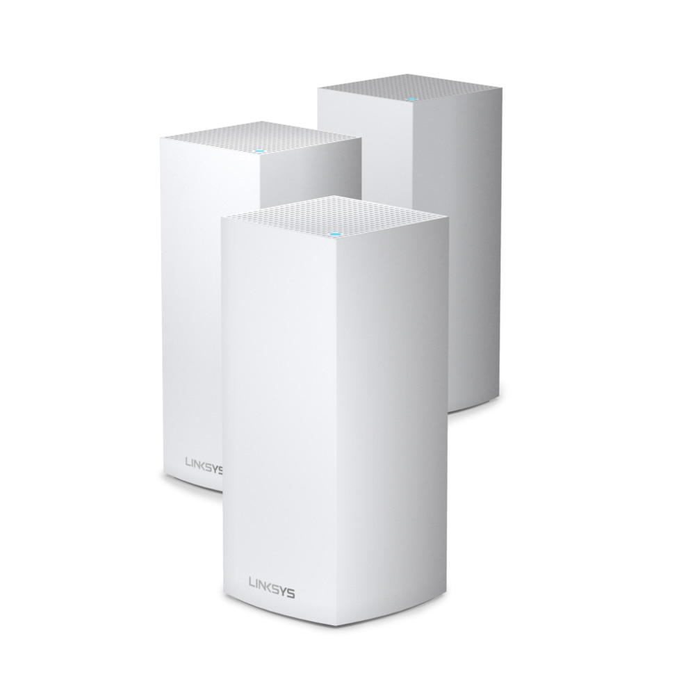 Linksys Velop MX12600 AX4200 Tri-Band Mesh WiFi 6 System, MU-MIM, up to 12.6 Gbps, Intelligent Mesh Router, 3-Pack
