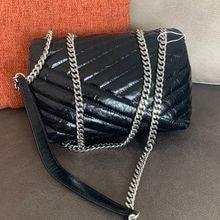 luxury designer women v thread chain strap hobo shoulder bag lady handbag import cowhide leather Eur