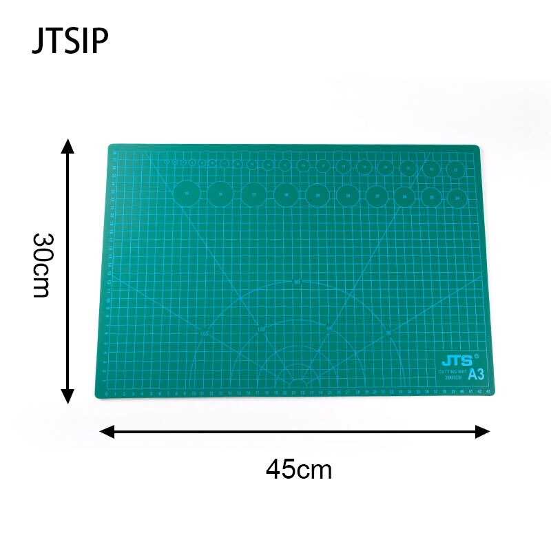JTSIP Cutting Pad PVC Double Printed Self Healing Cutting Mat Art Carving Mat Knife Cutting Paper Pads Rubber Large Carving Pads