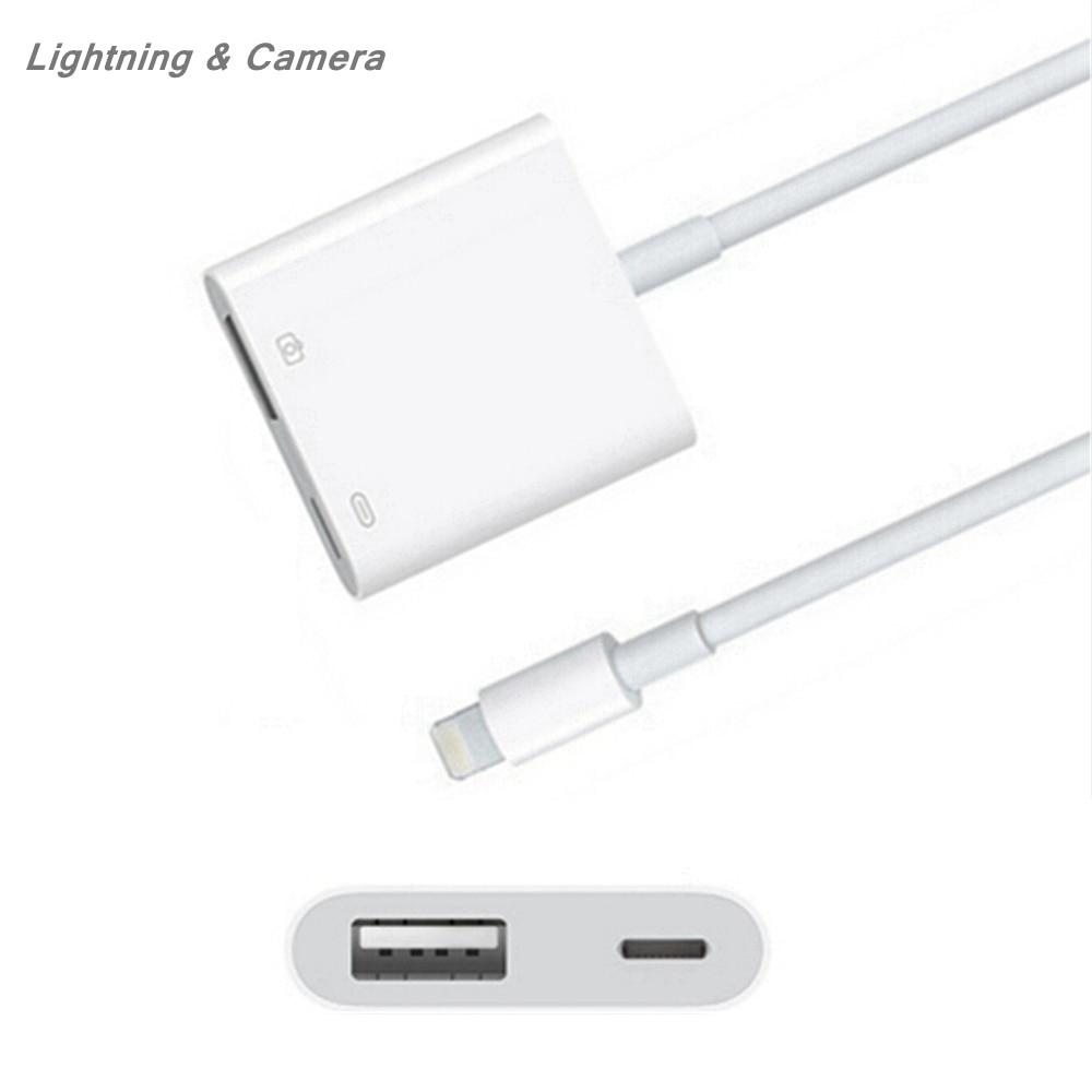 Для iPhone iPad 5V Lighting 8Pin для Lightning-USB 3 адаптер для камеры кабель конвертер OTG синхронизация данных внешний разъем клавиатуры