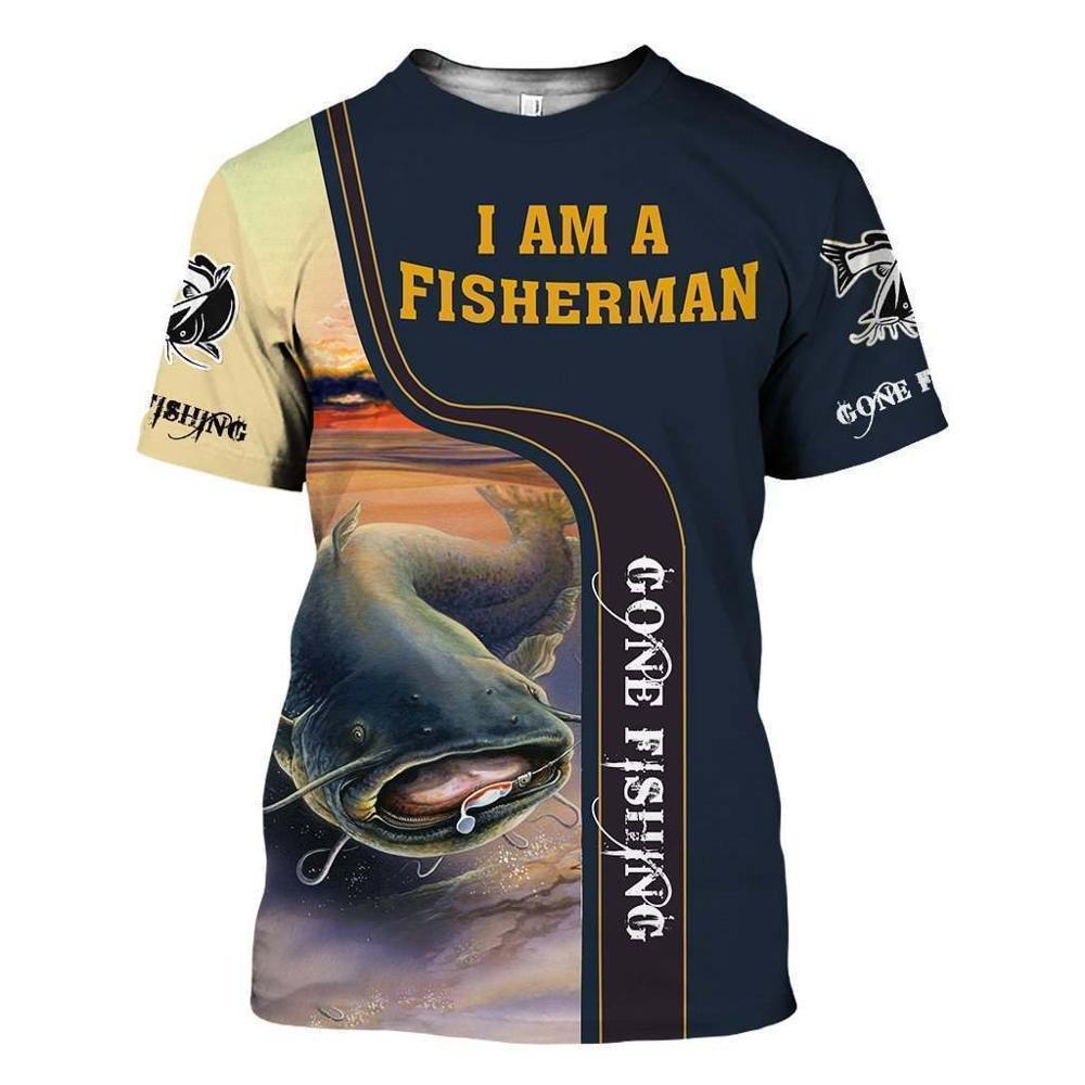 2020 New Fashion Men hoodies 3D Print t shirt New carp Fashion Animal Fishing Art t shirt tees shorts sleeve Apparel Unisex -8