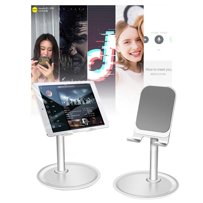 Soporte para tableta o teléfono plegable ajustable, soporte de montaje de escritorio ajustable, soporte de Escritorio Universal para todos los teléfonos inteligentes Ipad