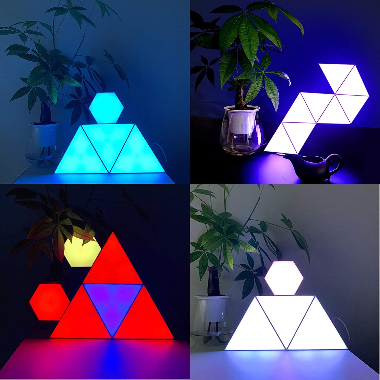 Smart Led Panel Light, Triangular Colour-Changing LED Panels, Rhythm Edition Smarter Kit, for Office Home Decoration