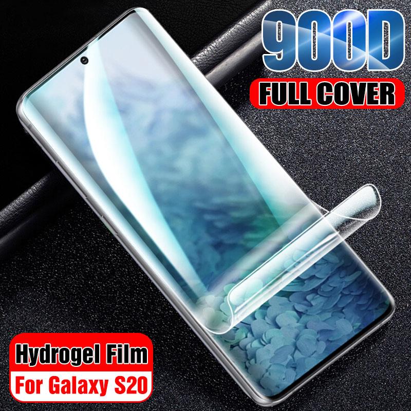 Protector de pantalla de película 900D hidrogel para Samsung Galaxy S20 Plus S20 película suave de cubierta Ultra completa para Samsung S20 Film Not Glass