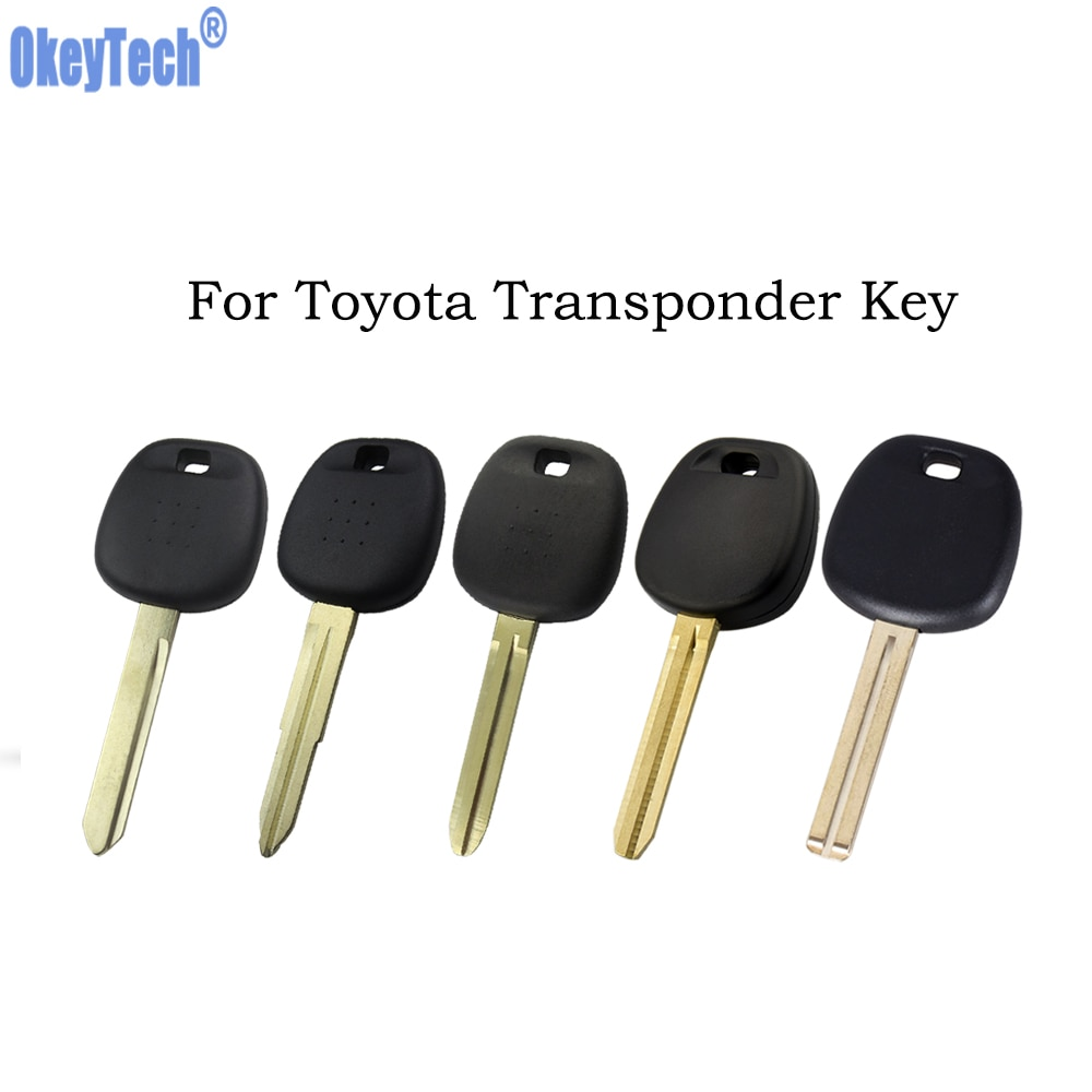 OkeyTech для Toyota транспондер ключ в виде ракушки для Rav4 Prado Corolla Camry Yaris Corolla Uncut Пустой защитное крыло Fob чехол без логотипа
