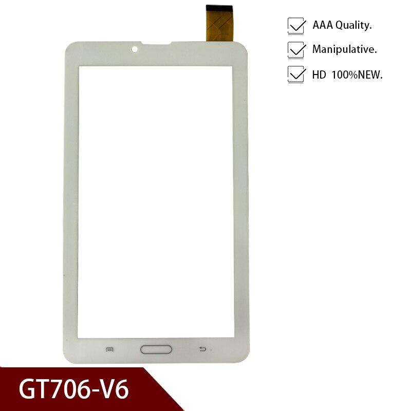 "Blanco nuevo Original 7 ""pulgadas Tablet GT706-V6 pantalla táctil digitalizador panel reemplazo cristal Sensor envío gratis"