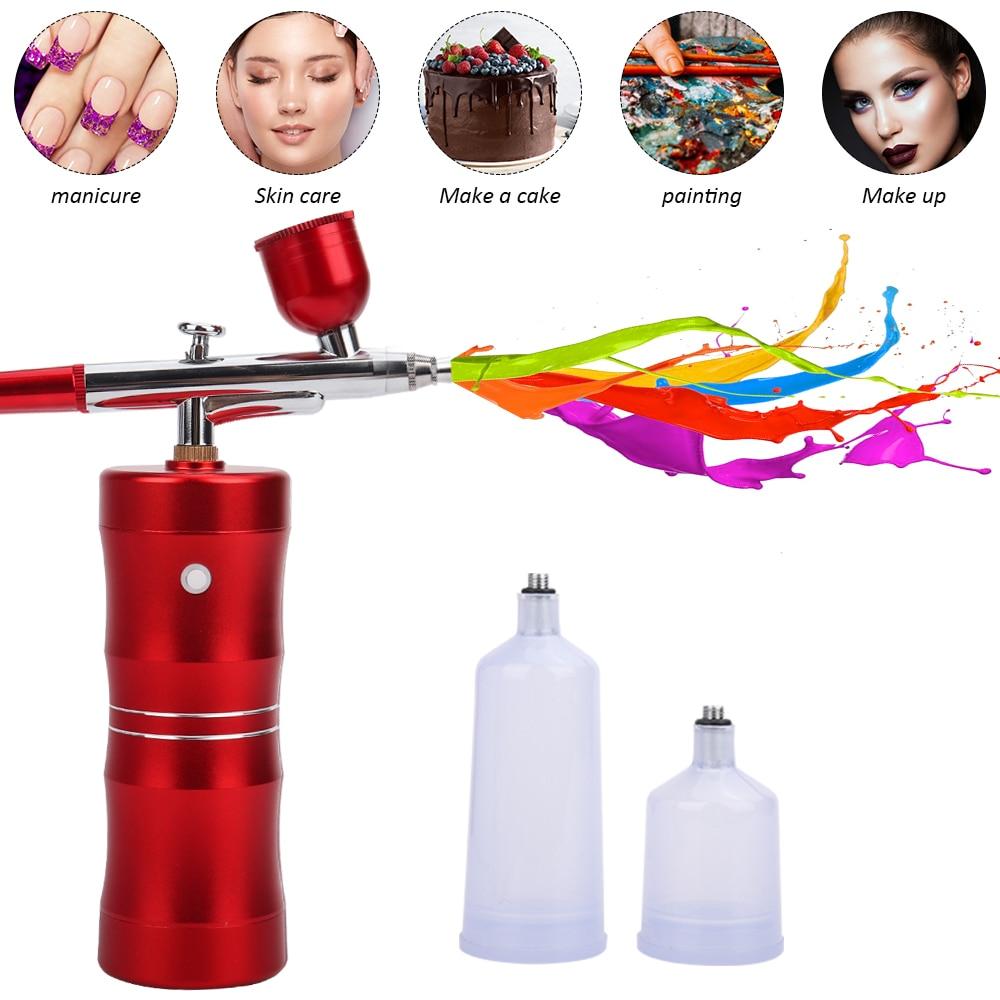 Air Compressor Spray Gun Air-Brush Paint Sprayer for Nail Art Cake Decoration Makeup Sprayer Nano Mist Moisturize Skin Airbrush