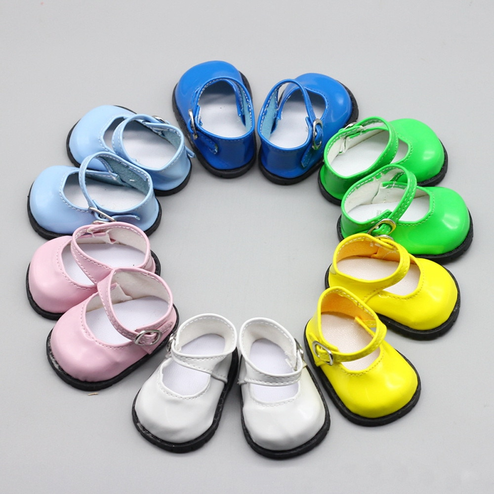 AliExpress - Doll Accessories Pink White Blue Leather Shoes with Round Head and Buckle for 18 inch American Dolls Toy Shoes for 43cm Dolls
