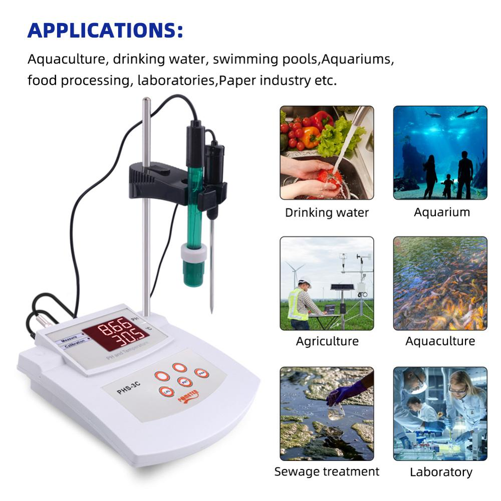 PHS-3C Desktop Automatic Calibration Acidity Meter PH/Thermometer 2In1Digital PH Tetester Laboratory Water Quality Analyzer