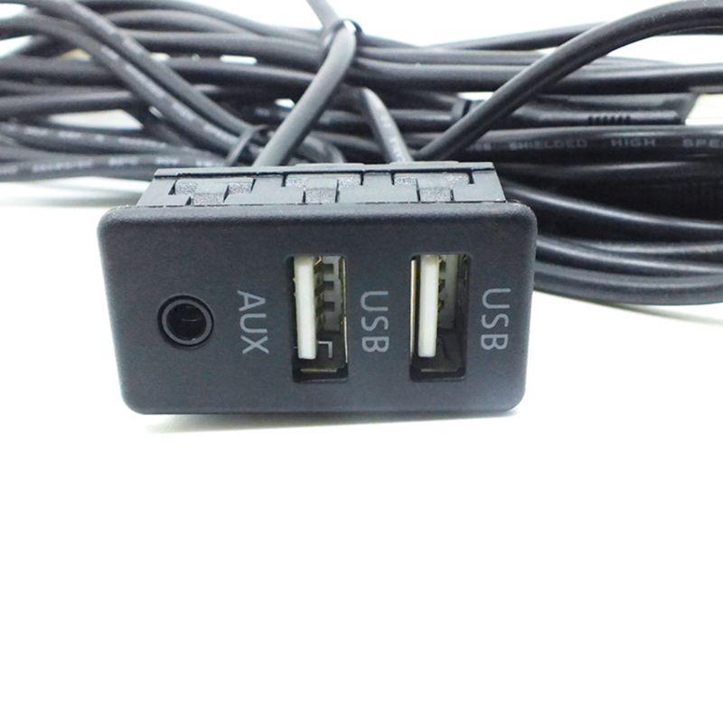 1,5 м автомобильное крепление для приборной панели AUX USB порт двойной USB удлинитель адаптер