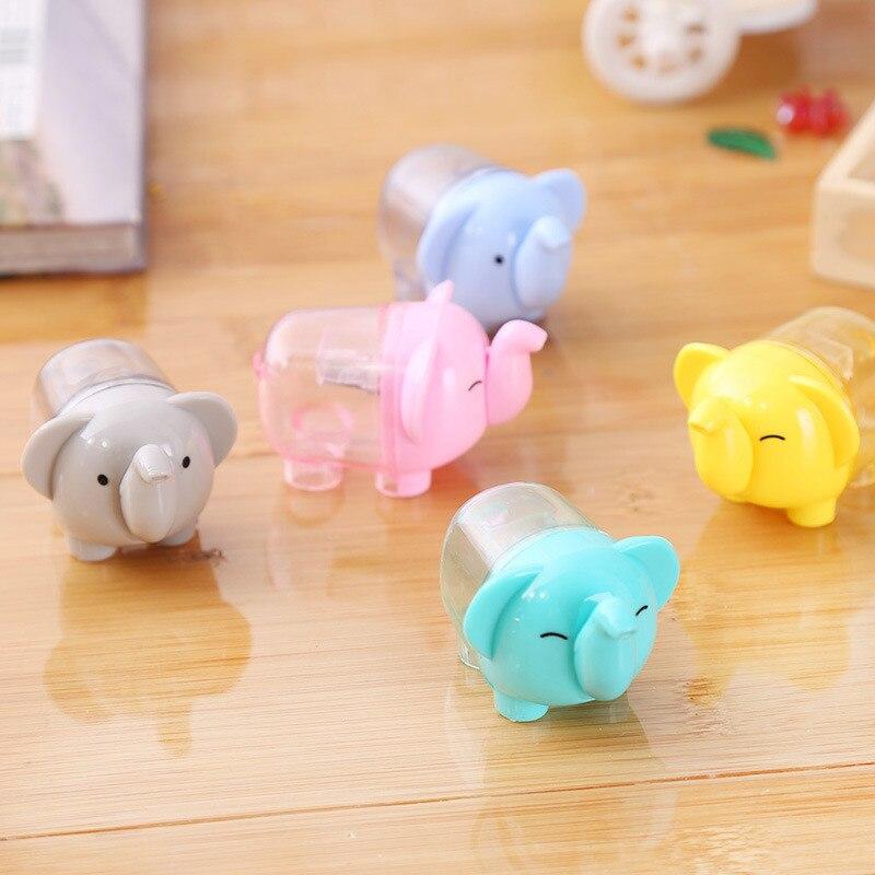 Sacapuntas creativo de elefante de dibujos animados Kawaii, 1 pieza, suministros de oficina para la escuela, regalo de papelería para chico
