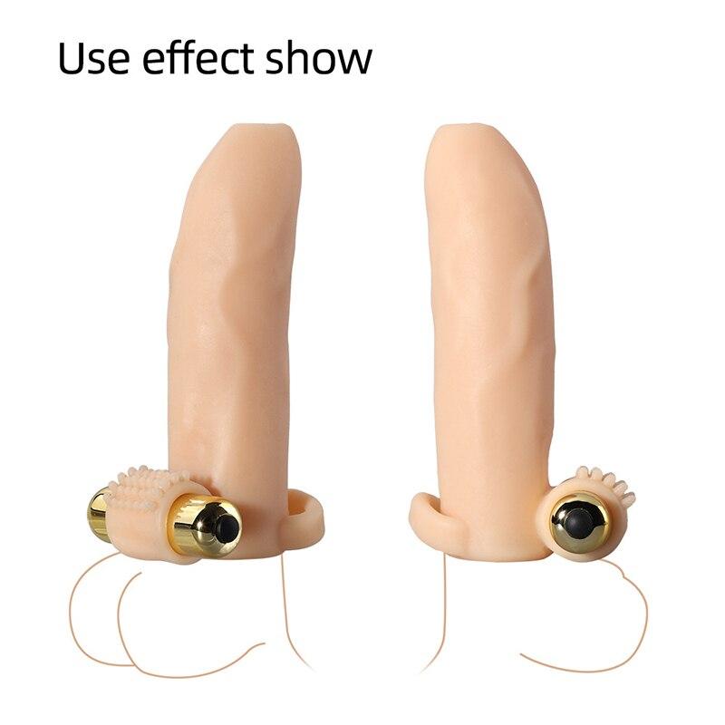 Nuevos condones reutilizables de ampliación, extensor vibrador, anillo de punto G, Mangas de extensión para pene, Juguetes sexuales para hombre, productos íntimos para adultos