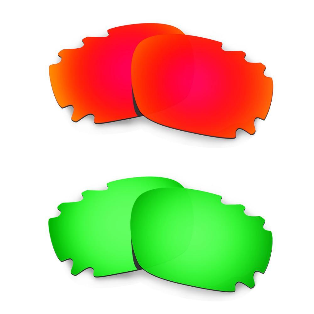HKUCO para chaqueta de carreras-gafas de sol con ventilación de ajuste asiático 2 pares de lentes polarizadas de repuesto-rojo y verde