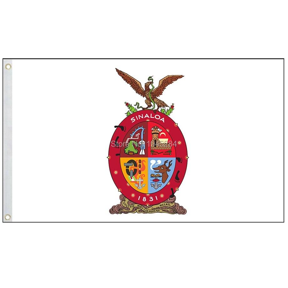 Bandera del Estado de México, Bandera de Sinaloa, bandera de Estados Unidos de México, bandera del Estado mexicano, 3x5ft 90x150cm de poliéster, envío gratis